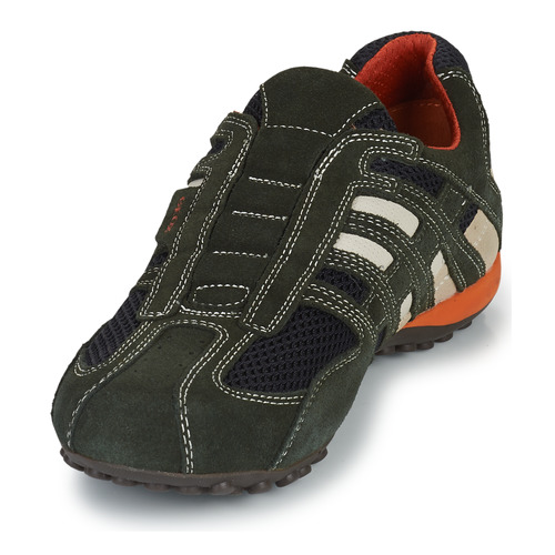 Geox L Homme Snake Gris Baskets Basses PkuOXZi
