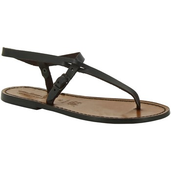 Chaussures Femme Sandales et Nu-pieds Gianluca - L'artigiano Del Cuoio 592 D MORO CUOIO Testa di Moro