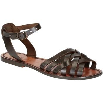 Chaussures Femme Sandales et Nu-pieds Gianluca - L'artigiano Del Cuoio 595 D MORO CUOIO Testa di Moro
