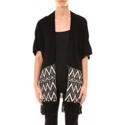 Vêtements Femme Gilets / Cardigans De Fil En Aiguille Poncho Mélodie Noir Noir