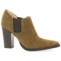 Chaussures Femme Low boots Vidi Studio Low boots cuir velours Camel
