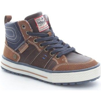 Chaussures Enfant Baskets montantes Wrangler Junior WJ15216 Basket Garçon Dark Brown Dark Brown