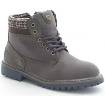 Chaussures Enfant Boots Wrangler Junior WJ15213 Bottes et bottines Garçon Dark Brown Dark Brown