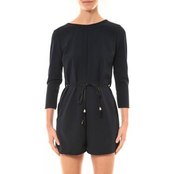 Vêtements Femme Combinaisons / Salopettes Nina Rocca Combi-Short Léa marine Bleu