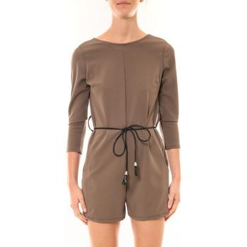 Vêtements Femme Combinaisons / Salopettes Nina Rocca Combi-Short Léa taupe Marron