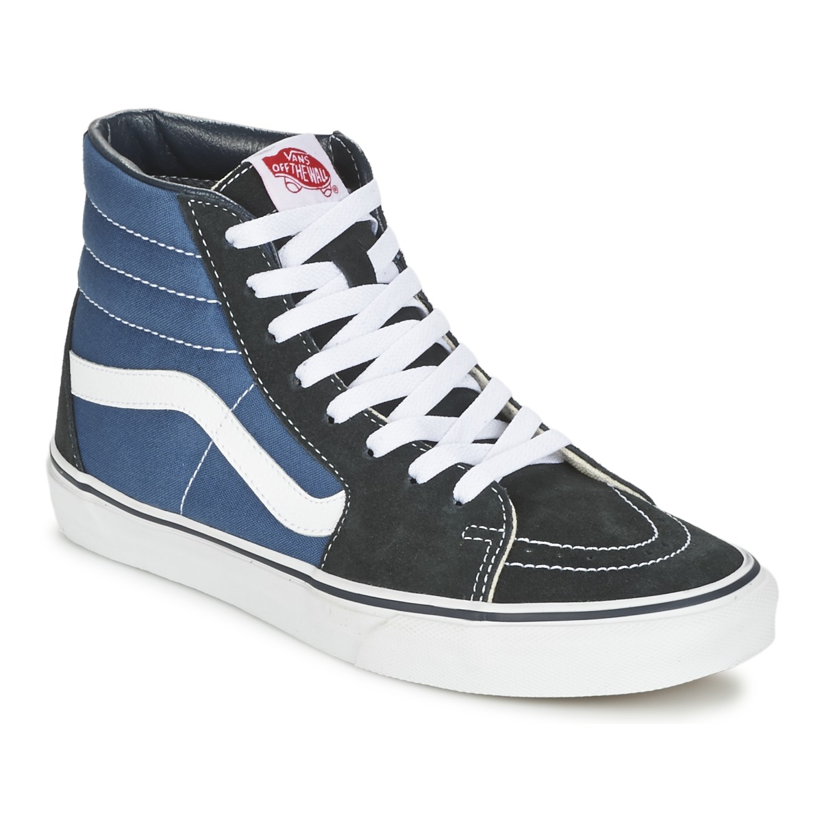 vans sk8 hi marine noir chaussures basket montante 80 00. Black Bedroom Furniture Sets. Home Design Ideas
