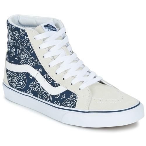 Vans SK8-HI REISSUE Bandana bleu /Blanc - Livraison Gratuite avec - Chaussures Basket montante