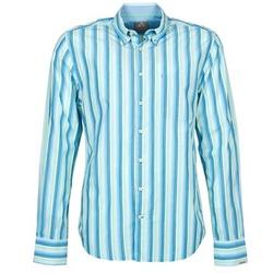 Vêtements Homme Chemises manches longues Gaastra SUMMERJAM Bleu / Blanc