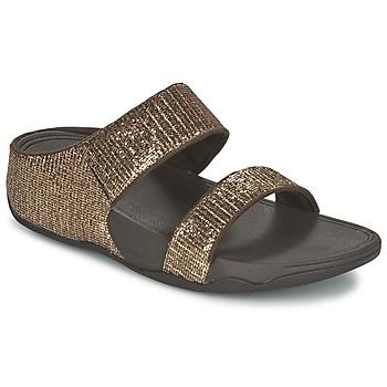 Chaussures Femme Mules FitFlop LULU SUPERGLITZ SLIDE Bronze