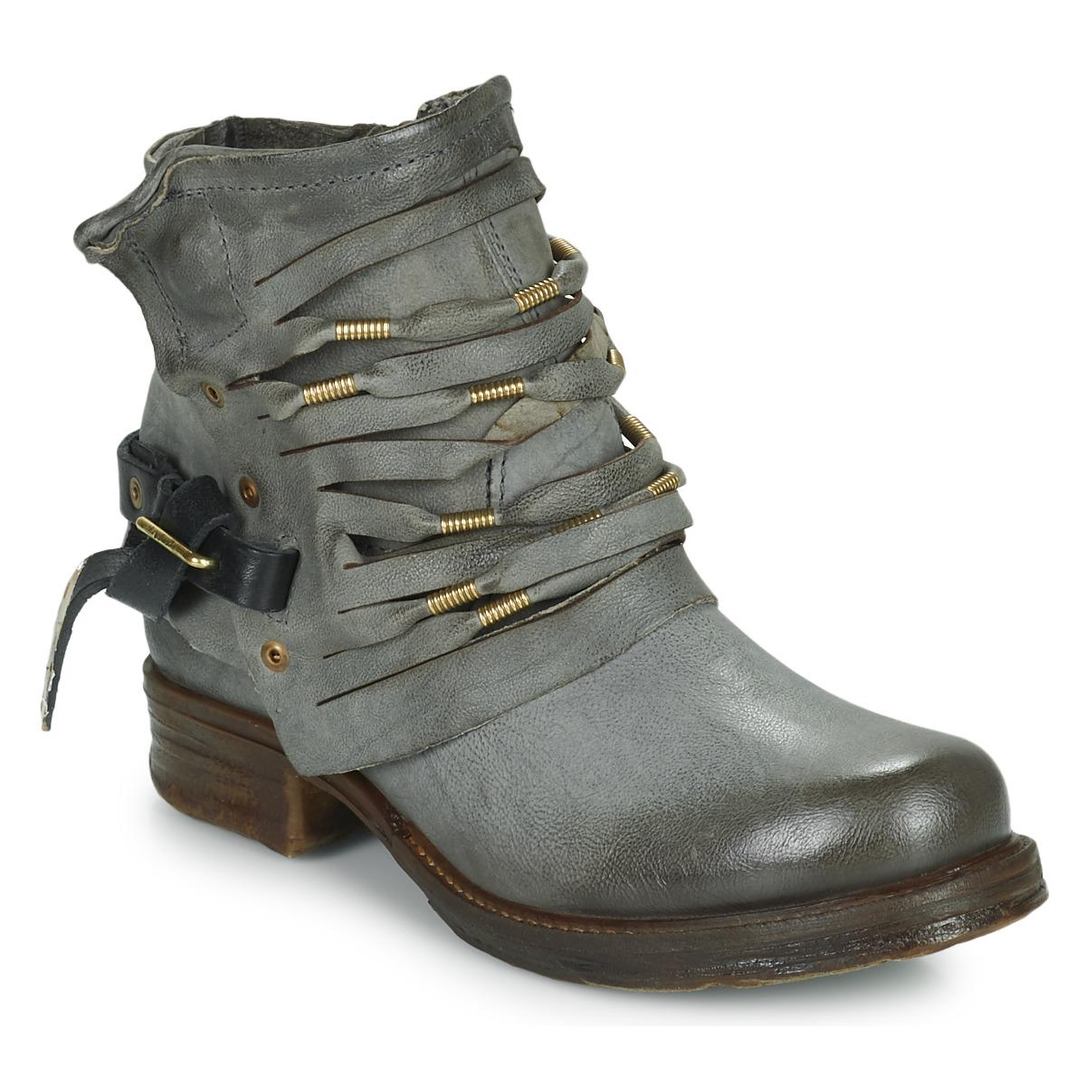 7934a91d09d Chaussures Femme Boots Airstep   A.S.98 SAINT Noir fumé