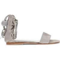 Chaussures Enfant Sandales et Nu-pieds Martinelli OCA LOCA nubuck sandales en cuir pour les filles GRIS