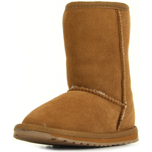Chaussures Fille Boots EMU Wallaby LO Chestnut marron