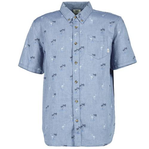 Chemises Vans HOUSER SS Bleu 350x350