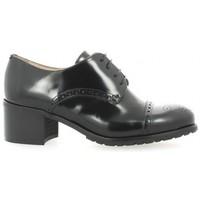 Chaussures Femme Derbies Paco Valiente Derby cuir glacé Noir