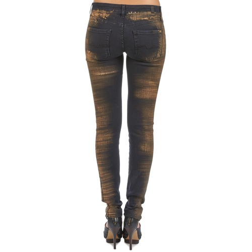 OLIVYA  7 for all Mankind  jeans slim  femme  bleu
