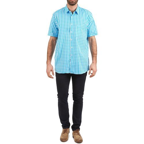 140 Manches 539236202 Cardin Homme Pierre Courtes Chemises Bleu Y6yfbgv7