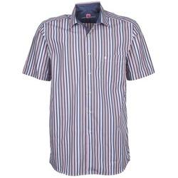 Vêtements Homme Chemises manches courtes Pierre Cardin 514636216-184 Bleu / Rose