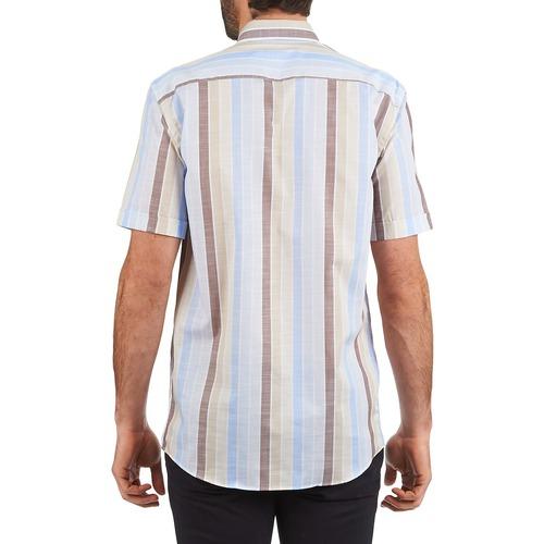 130 Homme Cardin Pierre Courtes 539936240 Manches Chemises BleuBeige Marron 0OwnPk