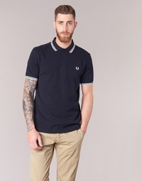 Vêtements Homme Polos manches courtes Fred Perry THE FRED PERRY SHIRT Marine / Blanc