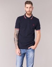 Vêtements Homme Polos manches courtes Fred Perry TWIN TIPPED FRED PERRY SHIRT Marine