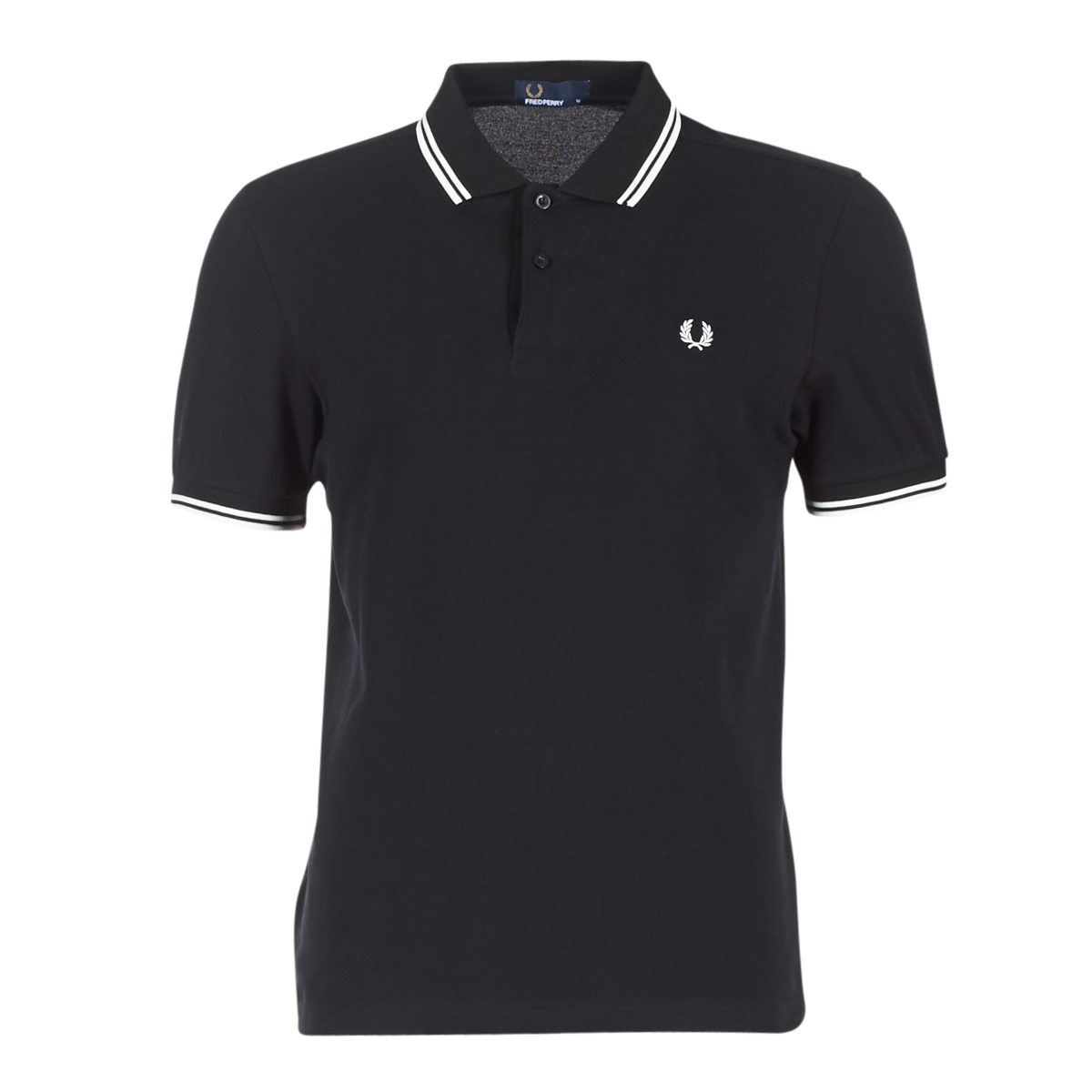 Fred Perry TWIN TIPPED FRED PERRY SHIRT Noir / Blanc