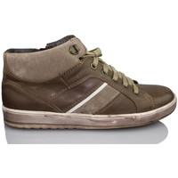 Chaussures Garçon Baskets montantes Acebo's APEL BRUN