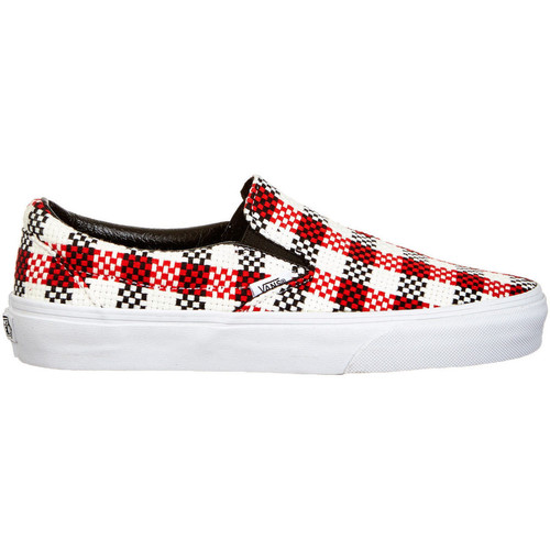 vans baskets femme slip on u classic imprime tartan noir blanc noir chaussures slips on femme. Black Bedroom Furniture Sets. Home Design Ideas