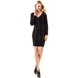 Vêtements Femme Robes courtes Guess Robe  Brunella Noir à Pois Noir