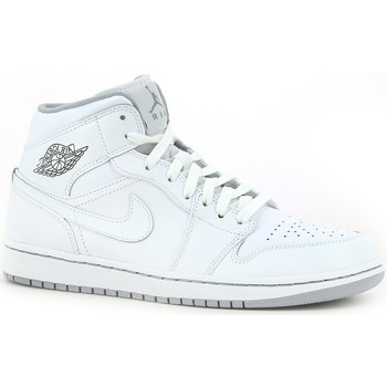 Chaussures Homme Baskets montantes Nike Air  1 Mid White / White