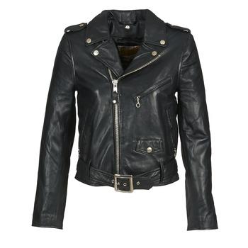 Vêtements Femme Vestes en cuir / synthétiques Schott GUELINE Noir