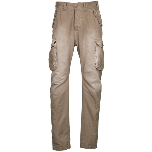 Pantalons Freeman T.Porter PUNACHO COTTON GAB CHOCOLATE CHIP Marron / Beige 350x350