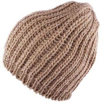 Accessoires textile Femme Bonnets Nyls Création Bonnet et écharpe marron Rita par Marron