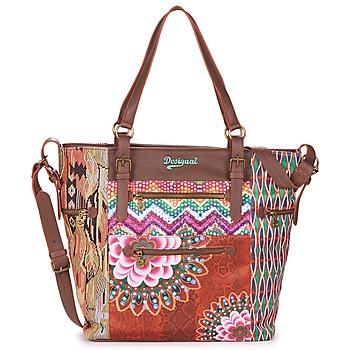 Cabas / Sacs shopping Desigual ARGENTINA TANZANIA Marron / Multicolore 350x350