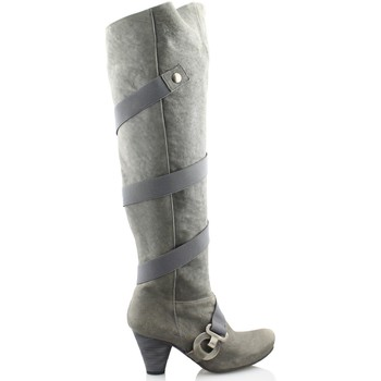 Chaussures Femme Cuissardes Gino Vaello OIL GRIS