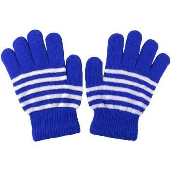 Accessoires textile Garçon Gants Léon Montane Gants Enfant Rayés Bleu et Blanc Bleu