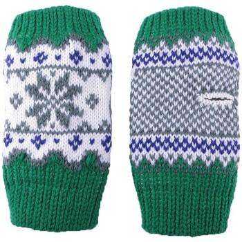 Accessoires textile Garçon Gants Léon Montane Gants Enfant Moufles Manchette Vert, Blanc et Gris Vert