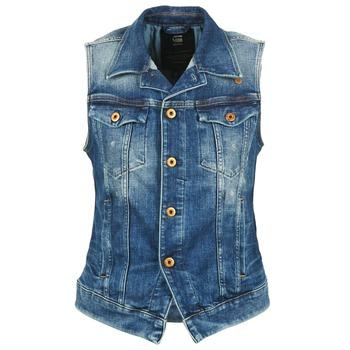 Vêtements Femme Vestes en jean G-Star Raw 3302 JKT S/LESS WMN Bleu Clair