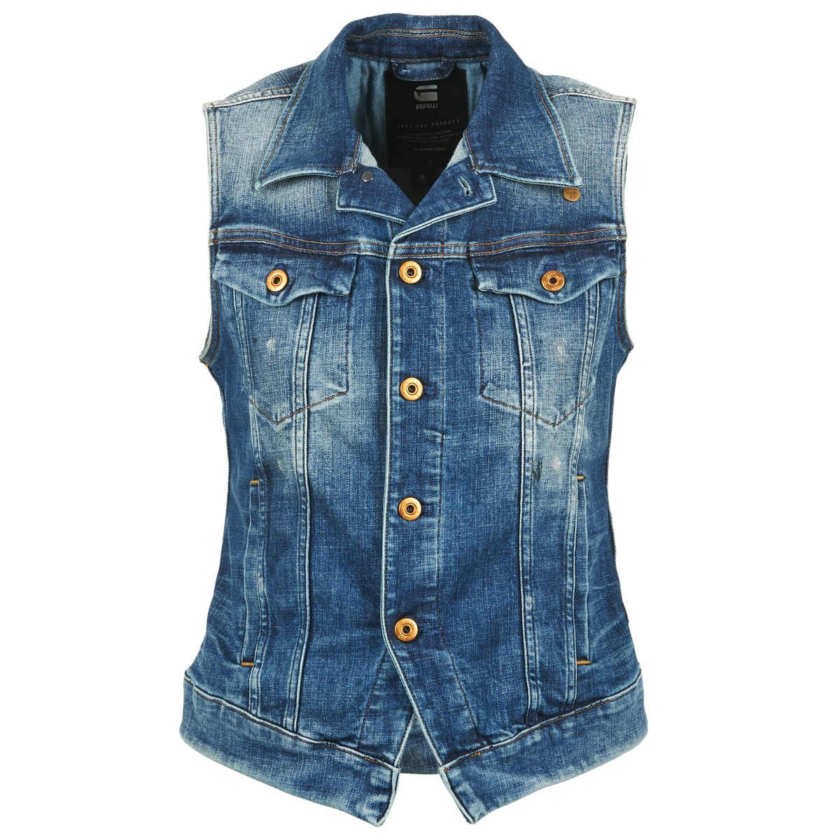 G-Star Raw 3302 JKT S/LESS WMN Bleu Clair