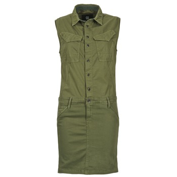 Robes G-Star Raw ROVIC SLIM DRESS WMN S/LESS Kaki 350x350