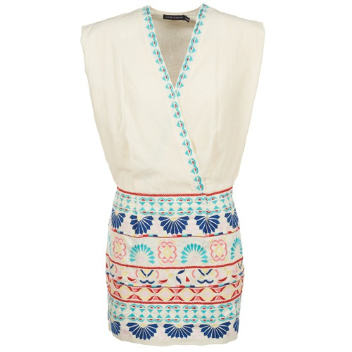 Vêtements Femme Robes courtes Antik Batik POLIN Blanc / Multicolore