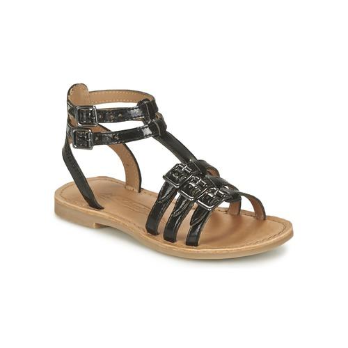 Sandale Shwik by Pom d'Api LAZAR BUCKLE Noir 350x350