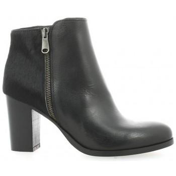 Chaussures Femme Low boots Pao Boots cuir poulain Noir