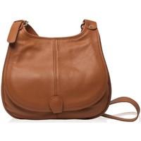 Sacs Femme Besaces Oh My Bag Sac à Main CUIR femme - Modèle PETRA (gd modèle) cognac foncé COGNAC CLAIR