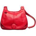 Oh My Bag Sac à Main CUIR femme - Modèle PETRA (gd modèle) rouge clair