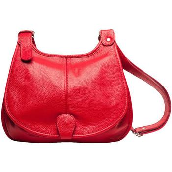 Sacs Femme Besaces Oh My Bag Sac à Main CUIR femme - Modèle PETRA (gd modèle) rouge clair ROUGE CLAIR