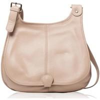 Sacs Femme Besaces Oh My Bag Sac à Main CUIR femme - Modèle PETRA (gd modèle) taupe clair TAUPE CLAIR