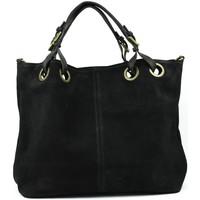Sacs porté main Oh My Bag Sac à Main cabas cuir nubuck femme - Modèle Opéra noir