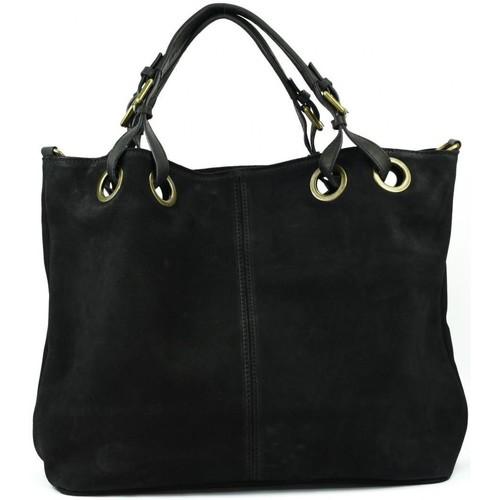 Sacs Femme Sacs porté main Oh My Bag Sac à Main cabas cuir nubuck femme - Modèle Opéra noir NOIR
