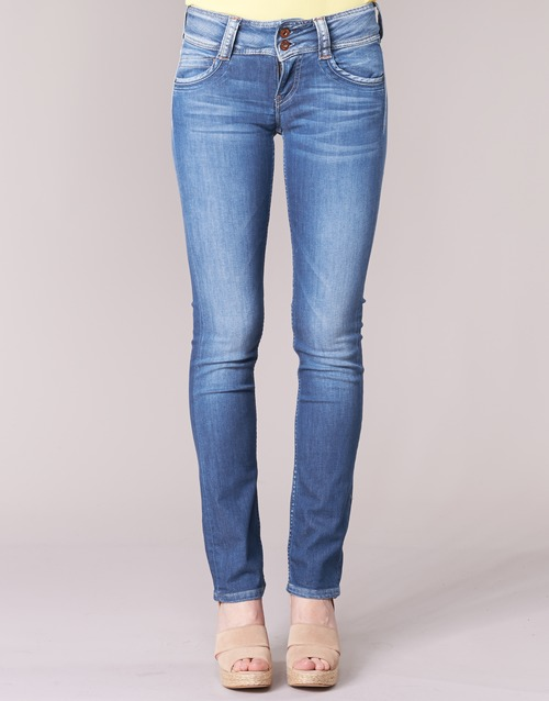 Pepe D45 Jeans Bleu Droit Femme Gen hrtQdxCs