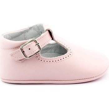 Chaussures Enfant Chaussons bébés Boni & Sidonie Chaussons en cuir souple - JOHAN Rose